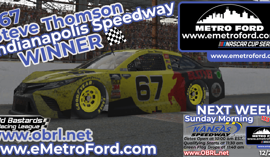 🏁 Steve Thomson #67 Ride TV Camry Wins Nascar Metro Ford Chicago Cup Race at INDY!