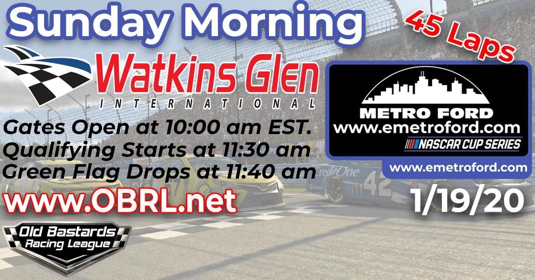 Week #9 Metro Ford Chicago Cup Series Race at Watkins Glen International – 1/19/20 Sunday Mornings