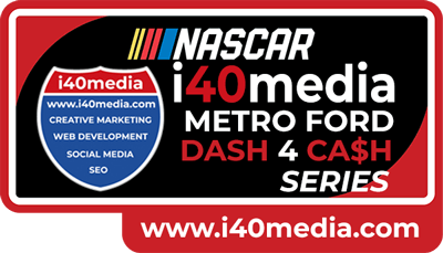 Nascar i40media Metro Ford Dash 4 Ca$h Series Logo