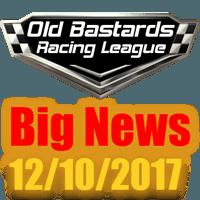 The Old Bastards Racing League News