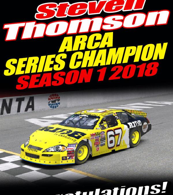 Steve Thomson No 67 Wins Nascar iRacing National Series