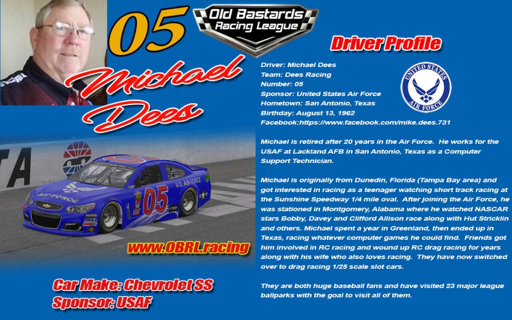 Michael Dees #05 iRacing Nascar Driver