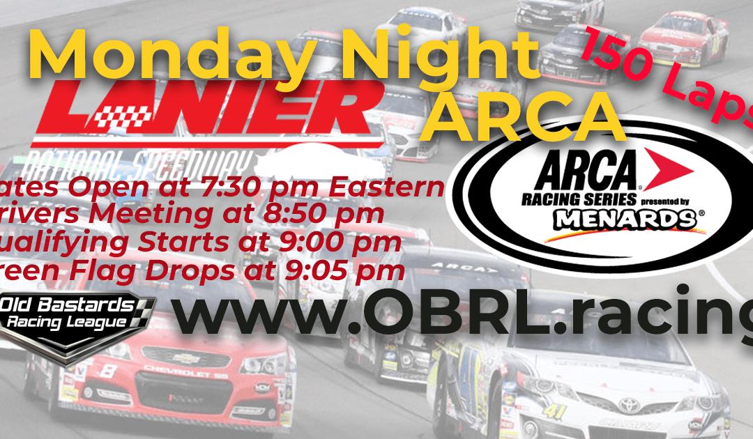 WINNER: Steve Thomson #67! Week #1 ARCA iRacing National Series Race Lanier Nat'l Speedway