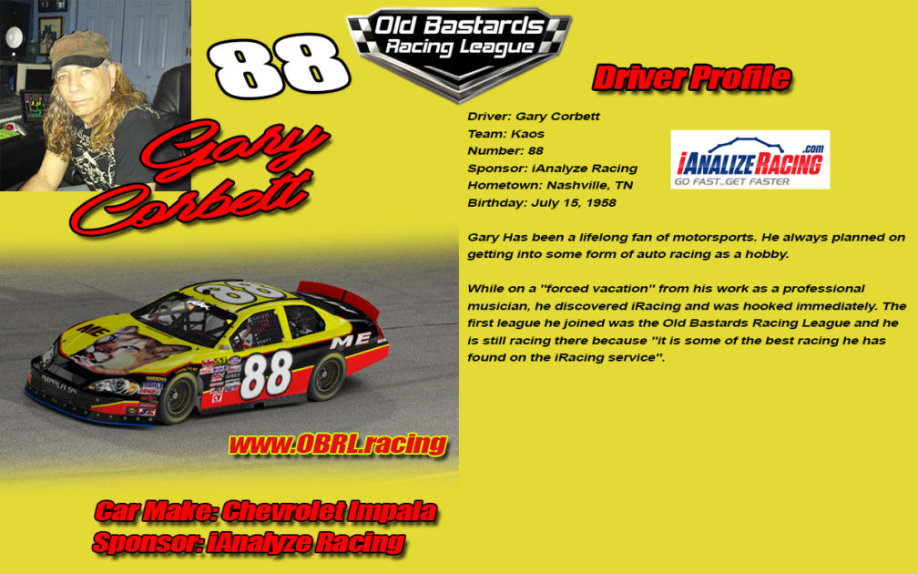 Gary Corbett Nascar Monster Energy Cup Series Driver of the #88 Chevrolet Cup Car