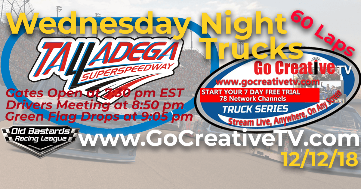 Go Creative TV Truck Series Race at Talladega SuperSpeedway