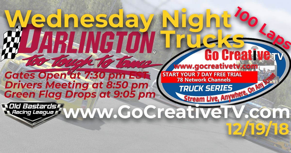 Go Creative TV Truck Series Race at Darlington Raceway