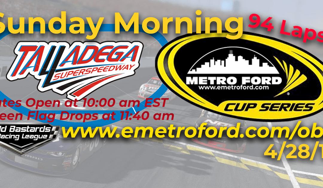 🏁WINNER: Joel Kilburn #40! Week #11 Metro Ford Cup Series Race Talladega SuperSpeedway – 4/28/19 Sunday Mornings