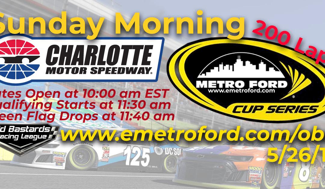 🏁WINNER: Jason Hounshell! Week #15 Metro Ford Cup Series Race Charlotte Motor Speedway – 5/26/19 Sunday Mornings