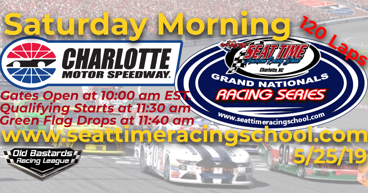 Nascar Stock Car Seat Time Racing School Grand Nationals Race Charlotte Motor Speedway