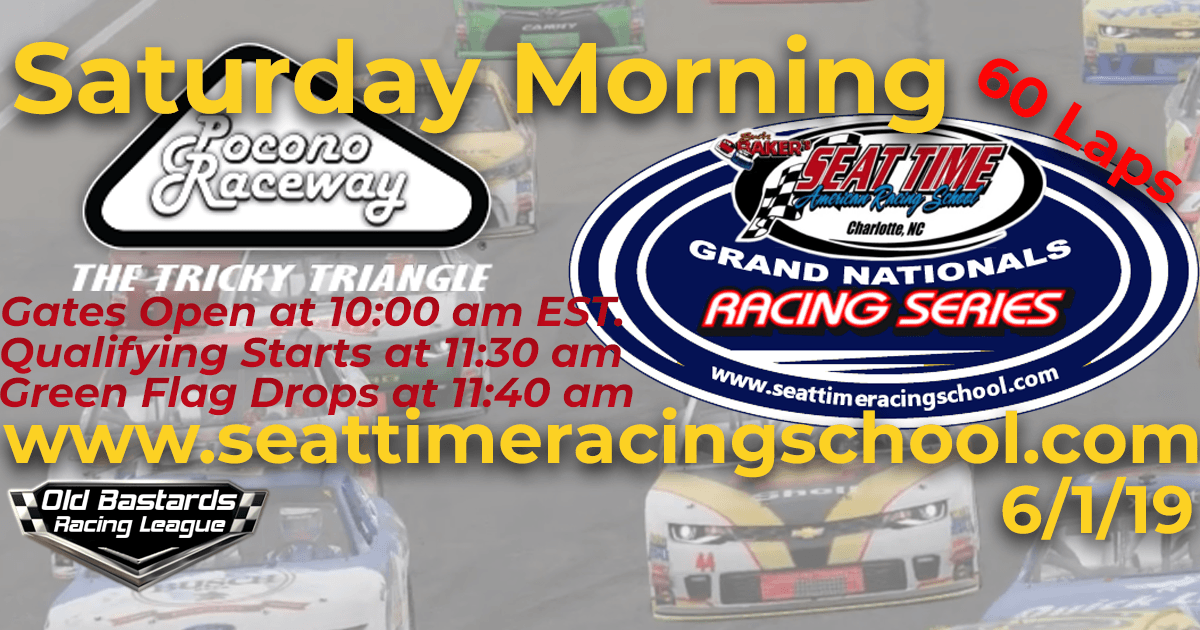 Seat Time Racing Experience School Grand National Series Race Pocono Raceway