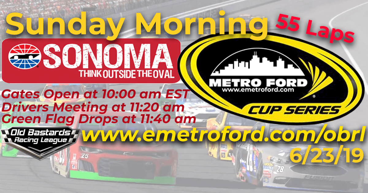 iRacing Nascar Metro Ford Cup Race at Sonoma Raceway