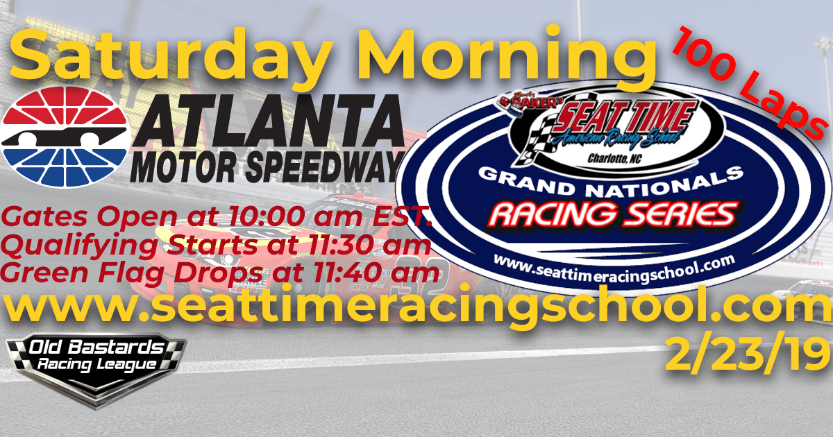 Seat Time Racing School Grand Nationals iRacing Xfinity Series Race Atlanta Motor Speedway
