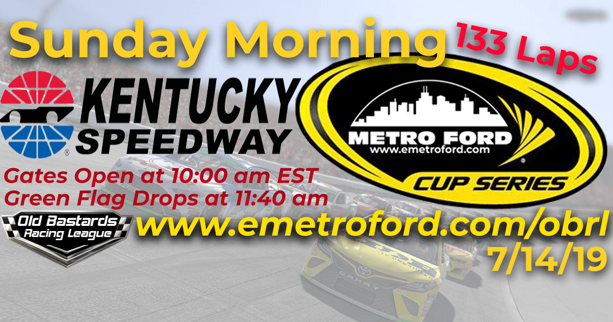 iRacing Nascar Monster Energy Metro Ford Cup Race at Kentucky Speedway