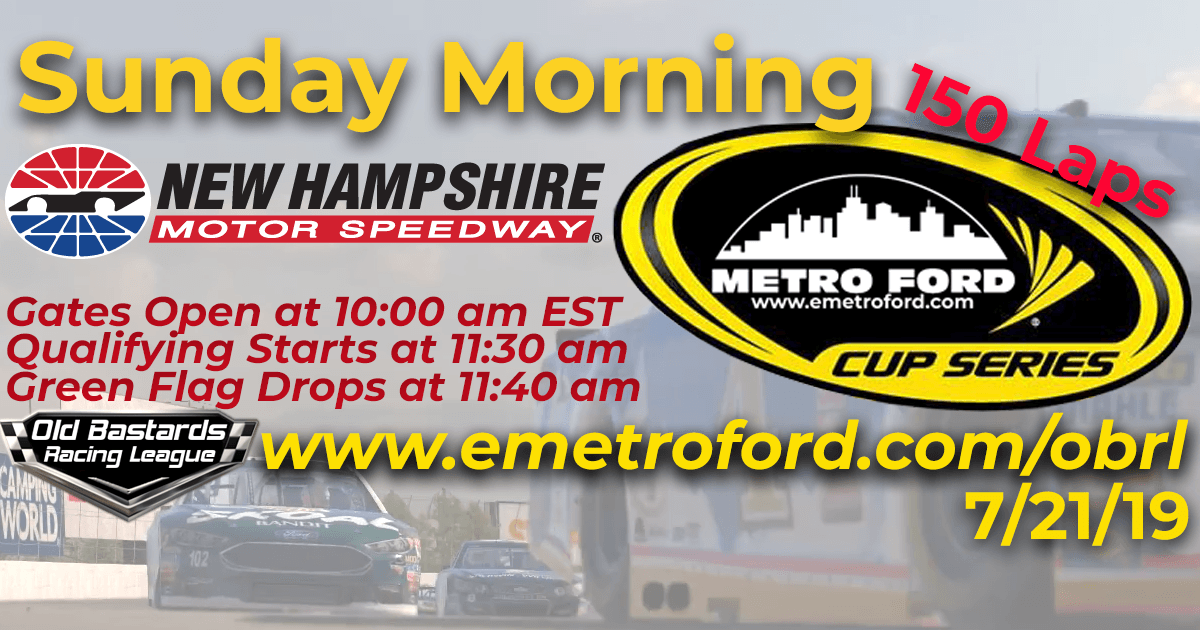 iRacing Nascar Metro Ford Cup Race at New Hampshire Motor Speedway