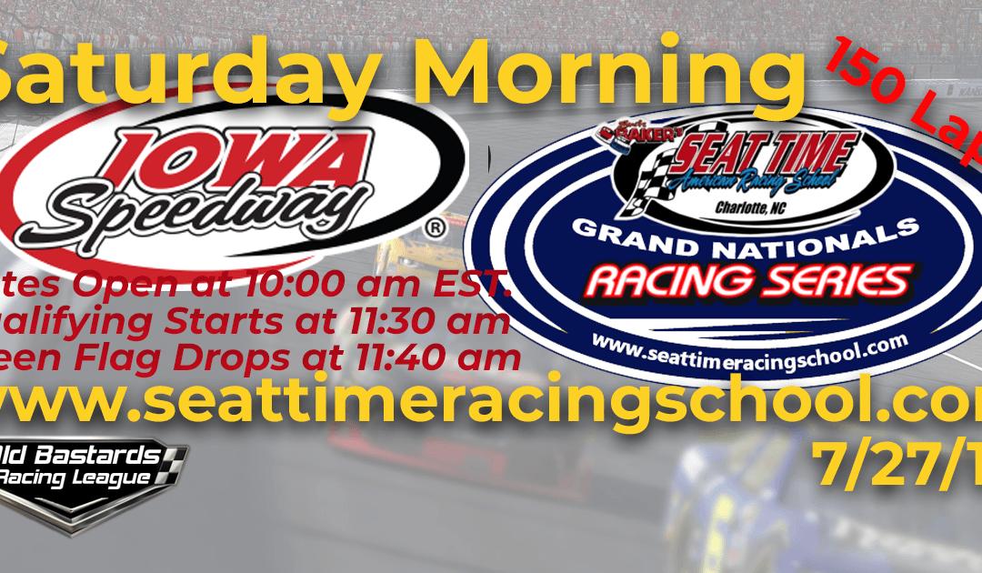 🏁WINNER: George Balance Jr. #45! Week #24 STRS Seat Time Racing School Grand Nationals Series Iowa Speedway – 7/27/19 Saturday Mornings