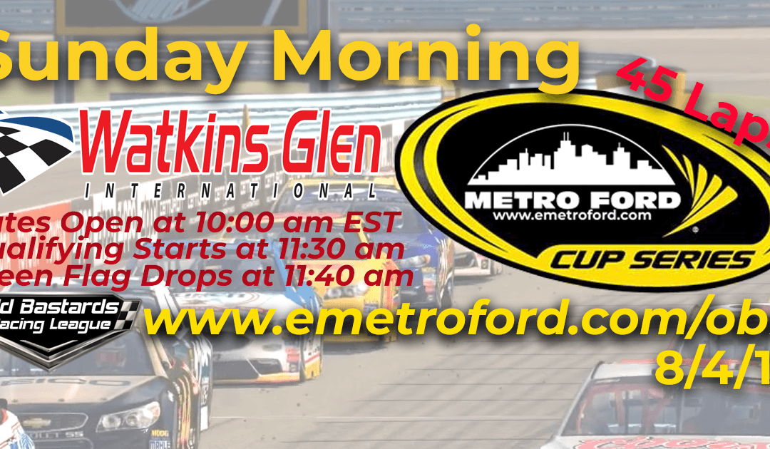 🏁WINNER: Ed Larson Adams #42! Week #25 Metro Ford Cup Series Race Watkins Glen Int'l – 8/4/19 Sunday Mornings