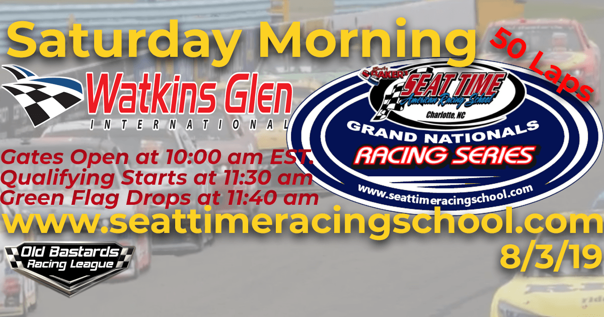 Seat Time Racing School Grand Nationals iRacing Xfinity Series Race Watkins Glen