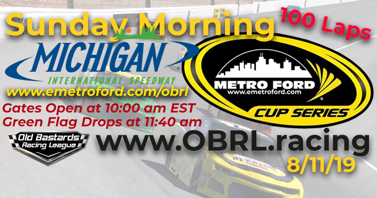 iRacing Nascar Monster Energy Metro Ford Cup Race at Michigan International Speedway