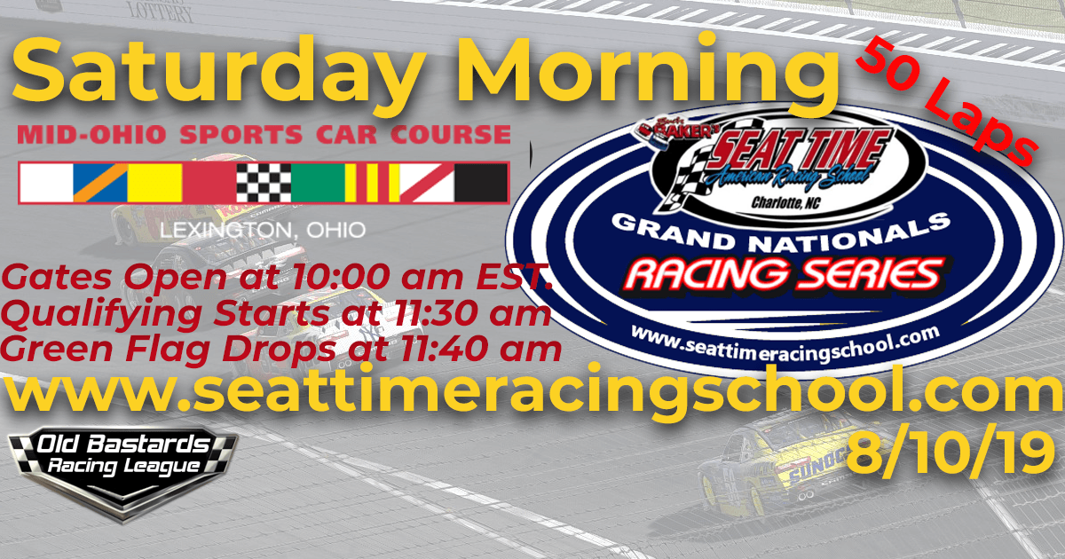 Nascar Stock Car Seat Time Racing Experience School Xfinity Grand Nationals Race Mid Ohio Sports Car Course