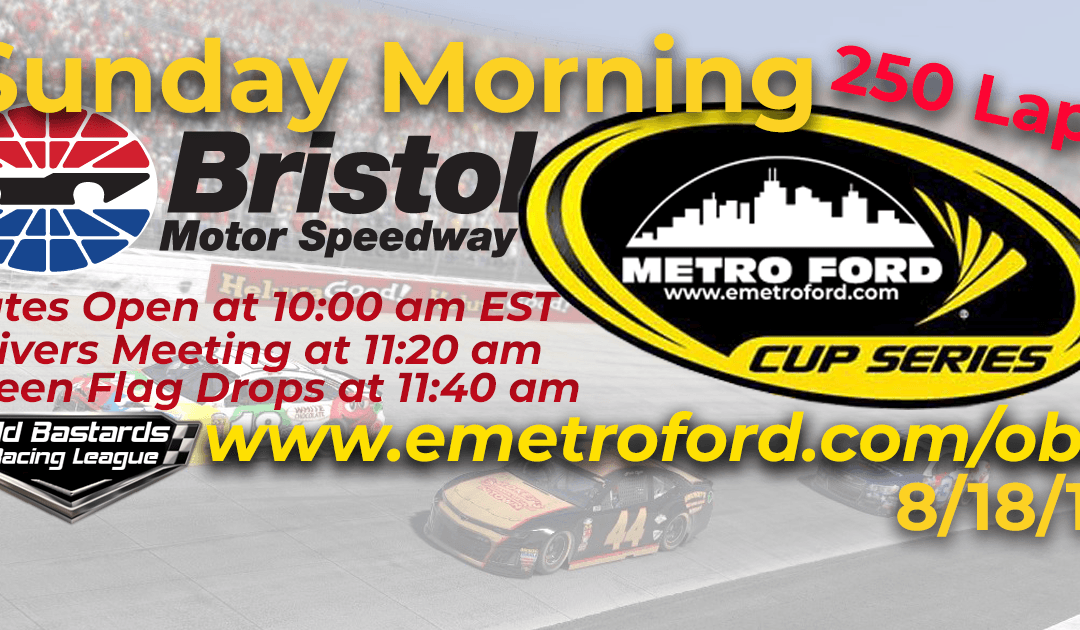 🏁WINNER: Vernon Margheim! Week #27 Metro Ford Cup Series Race Bristol Motor Speedway – 8/18/19 Sunday Mornings