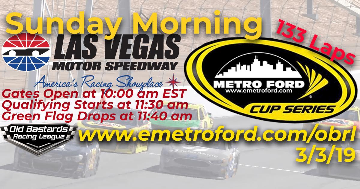 Nascar Metro Ford Cup Race at Las Vegas Motor Speedway