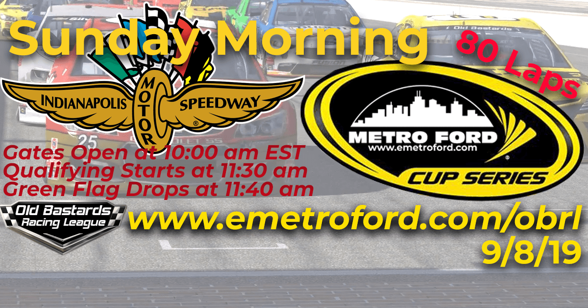 Metro Ford Cup Race at Indianapolis Motor Speedway