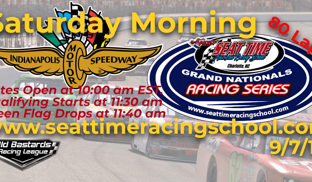 🏁WINNER: Ed Adams #42! Week #30 Seat Time Racing School Grand Nationals Series Race Indianapolis Motor Speedway – 9/7/19 Saturday Mornings