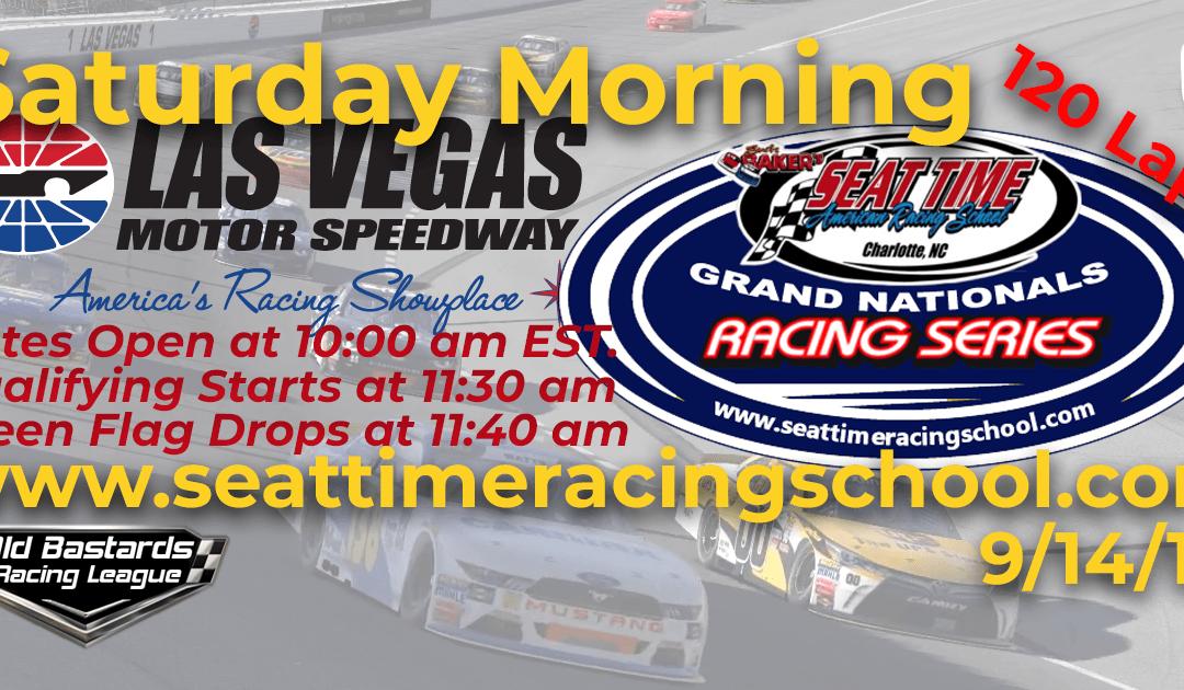 🏁WINNER: Bill Benedict #90! Week #31 Seat Time Racing School Grand Nationals Series Race Las Vegas Motor Speedway – 9/14/19 Saturday Mornings
