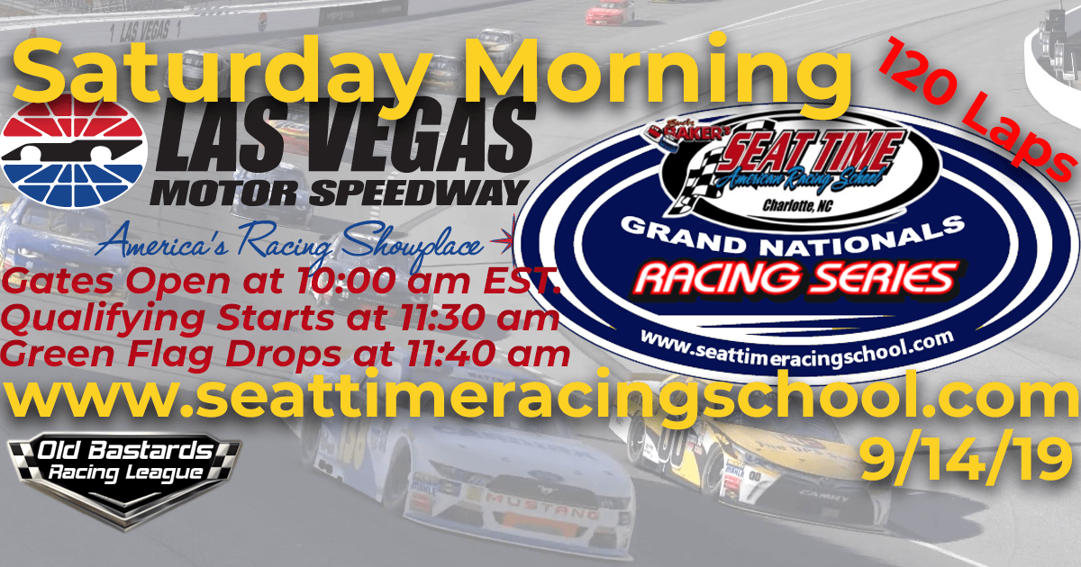 Nascar Seat Time Racing School Grand Nationals Race Las Vegas Motor Speedway