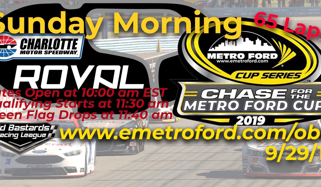 🏁WINNER: Ed Larson Adams #42! Week #33 Metro Ford Cup Series Race at Charlotte ROVAL- 9/29/19 Sunday Mornings