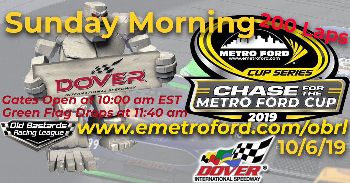 Chase for the 2019 Metro Ford Performance Dealers Cup Playoff Race at Dover International Speedway