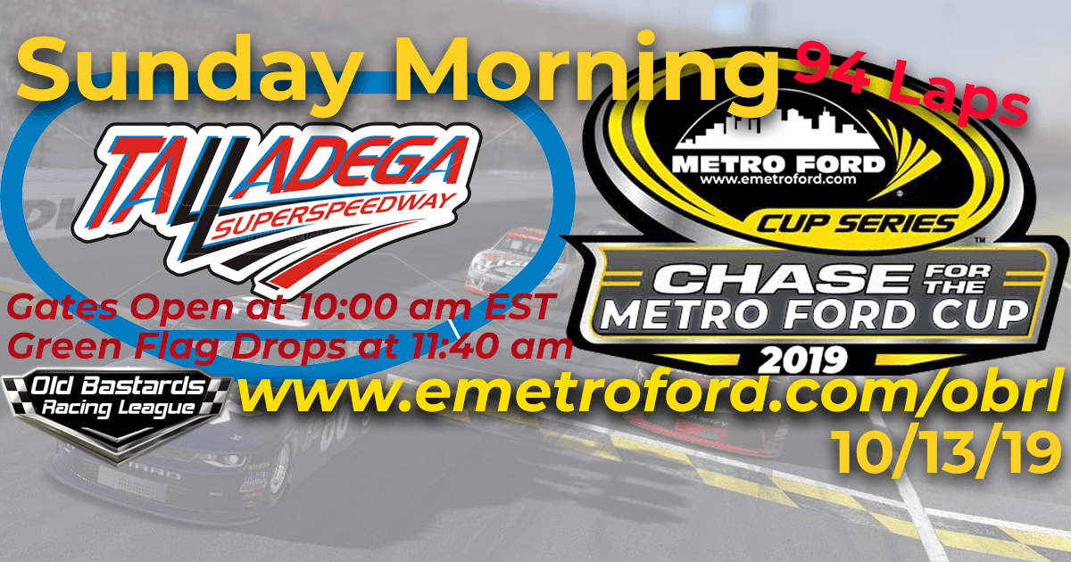 Chase for the 2019 Metro Ford Dealers Cup Playoff Race at Talladega SuperSpeedway