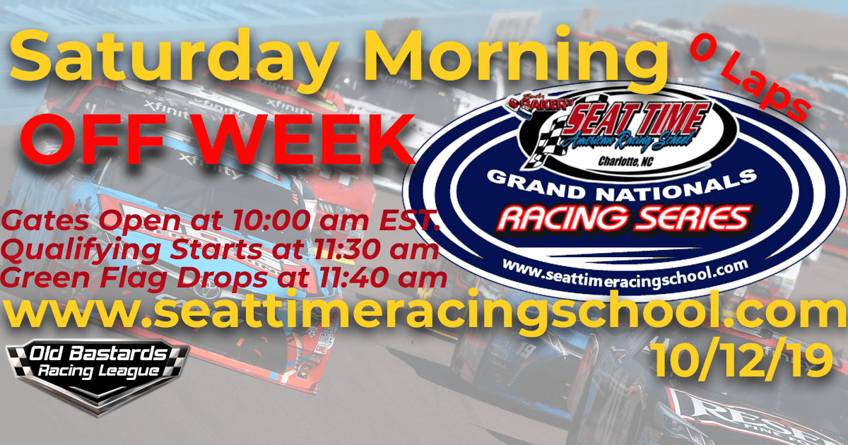 Nascar Seat Time Racing School Grand Nationals Playoff Race OFF WEEK