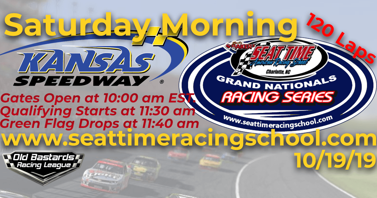 Nascar Seat Time Racing School Grand Nationals Playoff Race at Kansas Speedway
