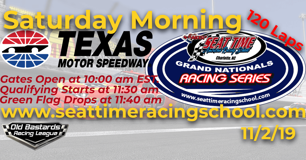 Seat Time Racing School Xfinity Grand Nationals Playoff Race at Texas Motor Speedway