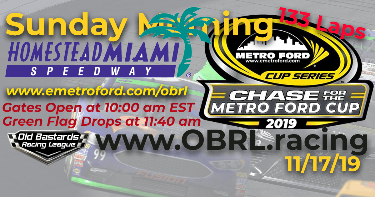 Chase to the 2019 Metro Ford Cup Championship Race at Homestead Miami Speedway