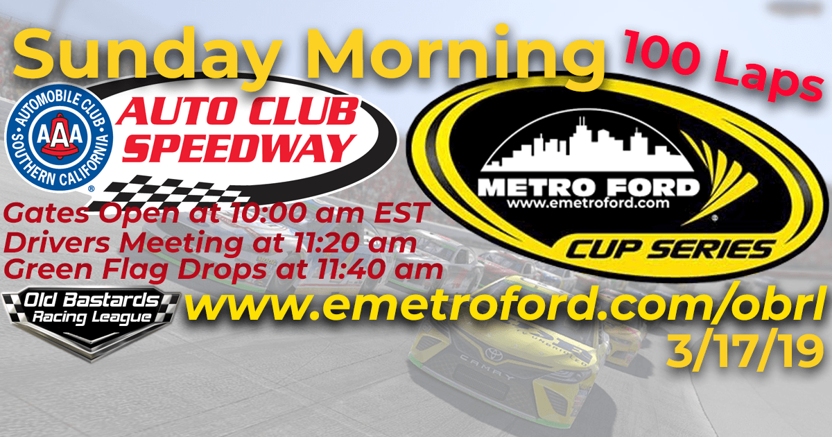 Metro Ford Chicago Cup Race at Auto Club Speedway California