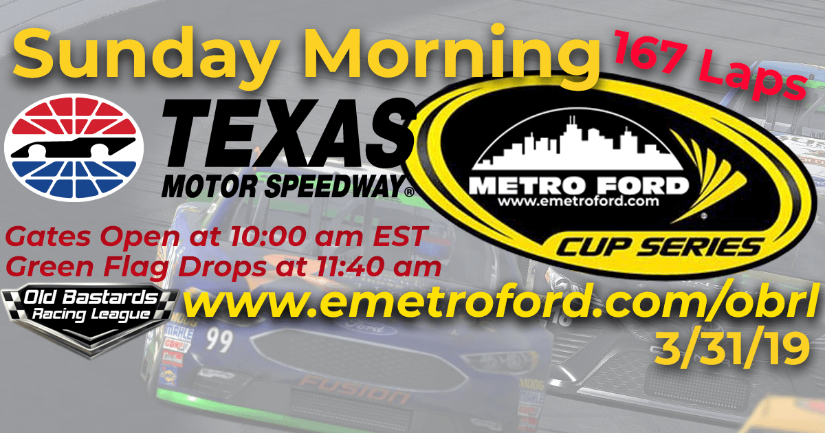 iRacing Nascar Metro Ford Cup Race at Texas Motor Speedway