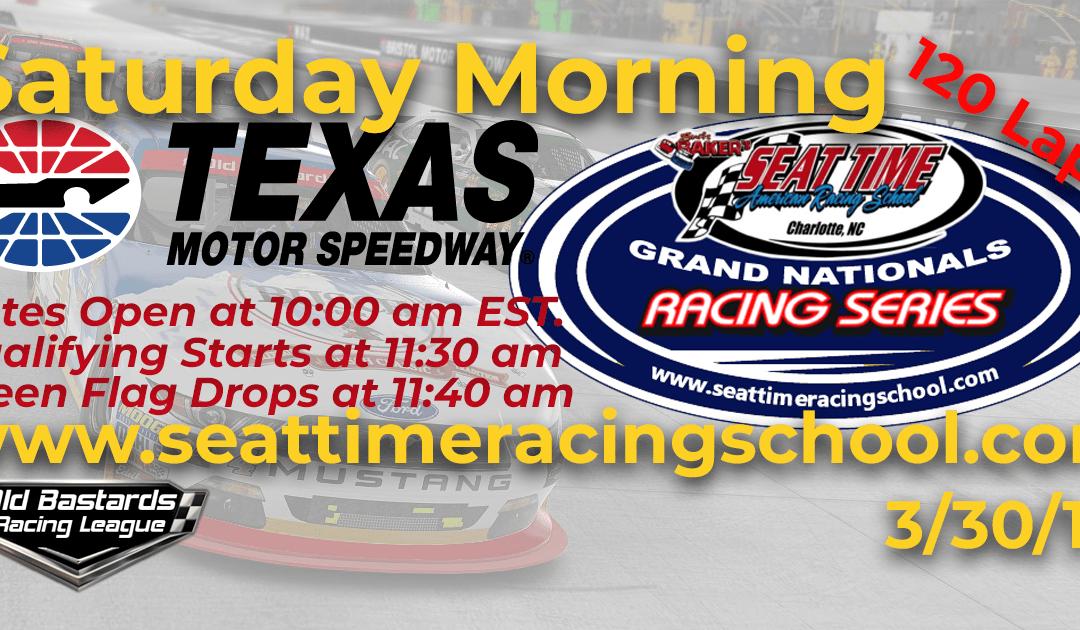 🏁WINNER: Josh Mayue #02! Week #7 Nascar Senior Tour Grand Nationals Series Texas Motor Speedway 3/30/19 Saturday Mornings
