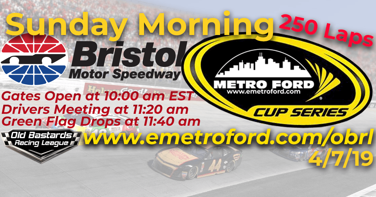 Nascar Monster Energy Metro Ford Cup Race at Bristol Motor Speedway