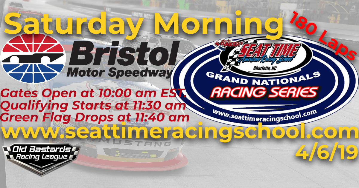 Seat Time Racing School Grand Nationals iRacing Xfinity Series Race Bristol Motor Speedway