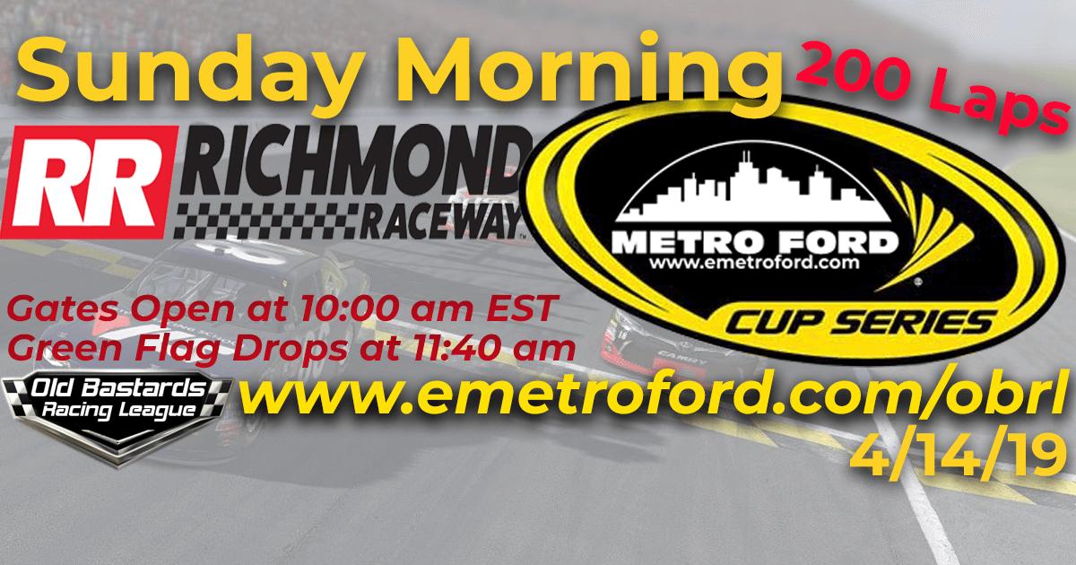 Nascar Metro Ford Cup Race at Richmond Raceway