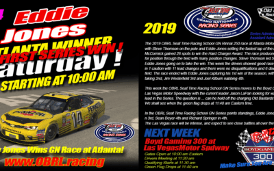 Eddie Jones #14 Wins eNascar Seat Time Racing School Grand National Race at Atlanta
