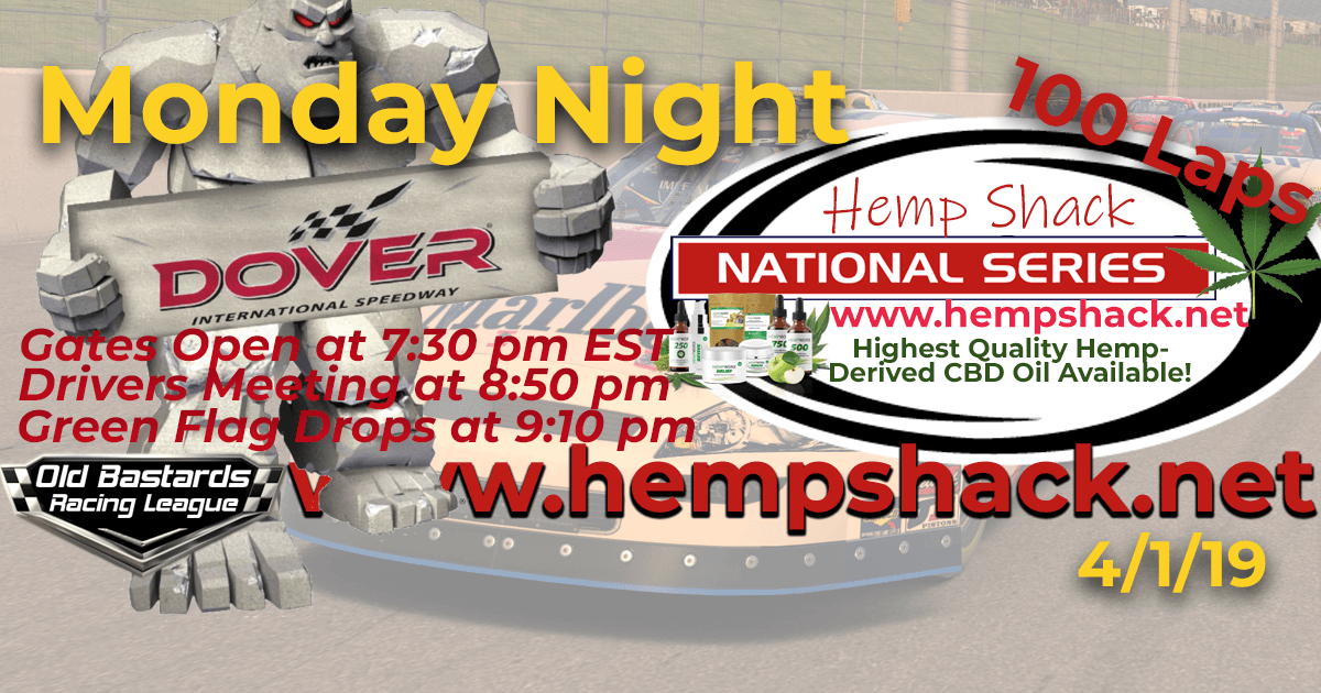 Nascar Hemp CBD Oil National Series Race at Dover International Speedway! iRacing K&N Pro ARCA League - Hemp Shack - Highest Quality Hemp-Derived CBD Oil Available!