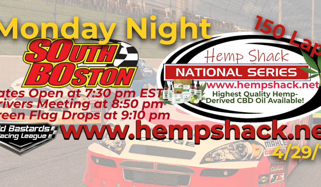 🏁WINNER: Steve Thomson #67 Ride TV! Week #8 Nascar Hemp Shack National Series Race at South Boston Speedway- 4/29/19 Monday Nights