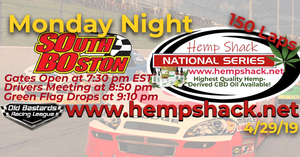 Nascar K&N Pro Hemp Shack National Series Race at South Boston Speedway. Monday Night Nascar iRacing K&N Pro League - Hemp Shack - Highest Quality Hemp-Derived CBD Oil Available!