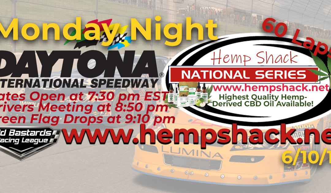 WINNER: John Held #73! Week #1 Full Spectrum CBD Oil For Horses Hemp Shack National Series Race at Daytona- 6/10/19
