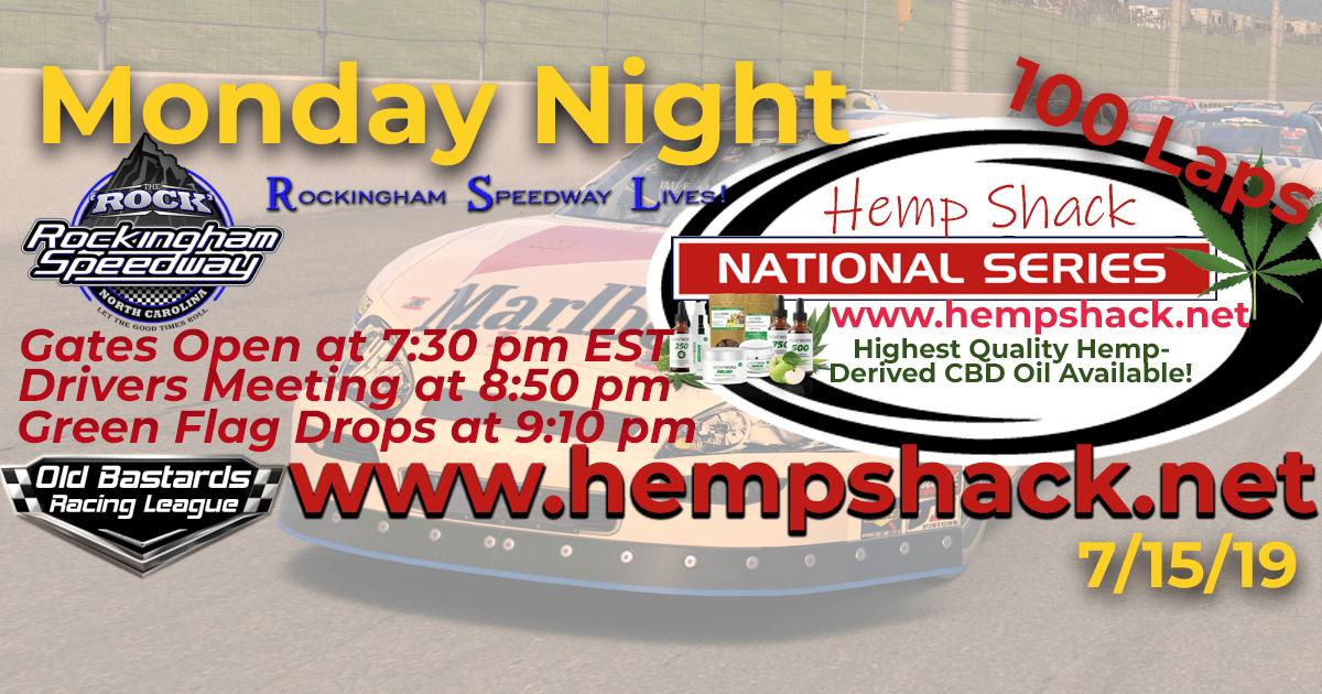 ARCA 750mg CBD Oil Hemp Shack National Series Race at Rockingham Speedway