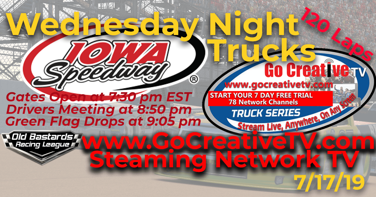 Fox Sports Nascar Go Creative Streaming TV Truck Series Race at Iowa Speedway