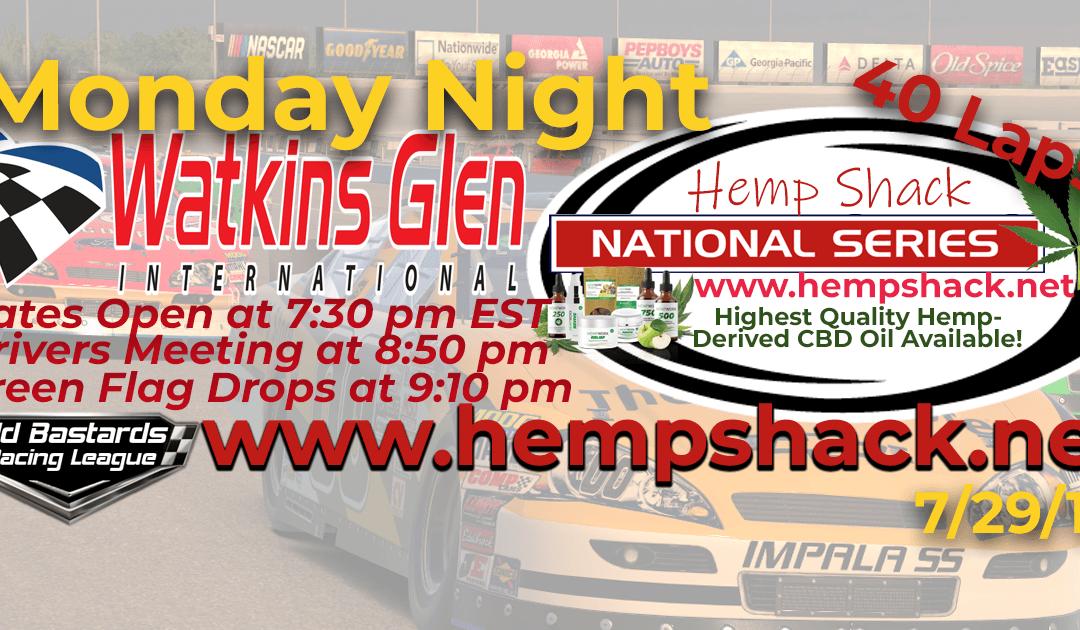 🏁WINNER: Ed Adams #42! Week #8 Certified CBD Oil Hemp Shack National Series Race at Watkins Glen- 7/29/19